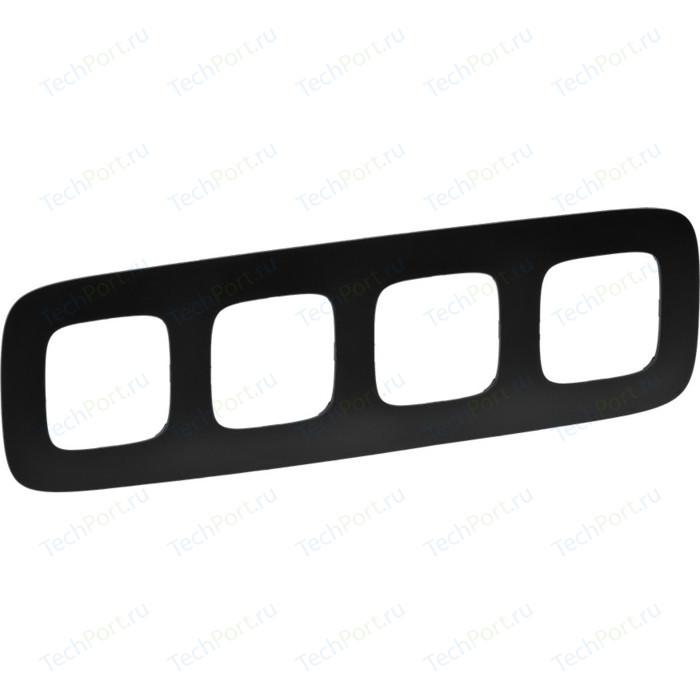 Рамка Legrand 4-постовая Valena Allure Матовый черный 754404
