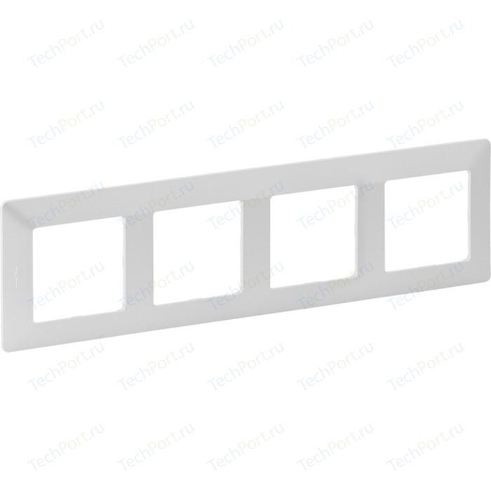 Рамка Legrand 4-постовая Valena Life Жемчуг 754144