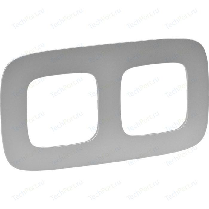 Рамка Legrand 2-постовая Valena Allure Алюминий 754392