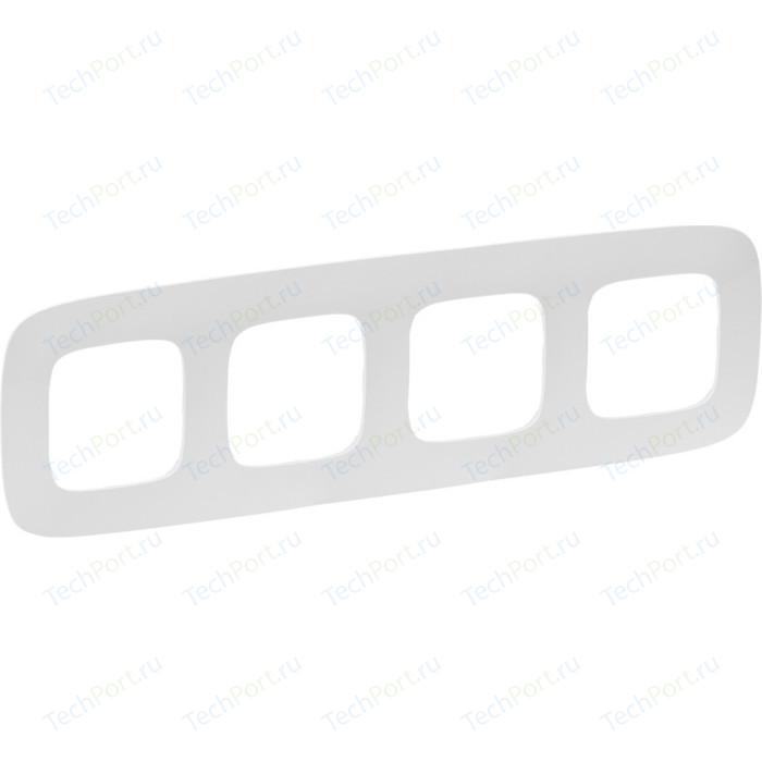 Рамка Legrand 4-постовая Valena Allure Белая 754304