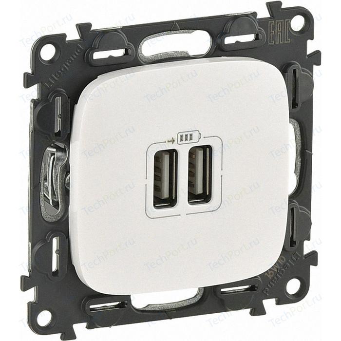 Розетка Legrand USB двойная Valena Allure 240V/5V 1500mA жемчуг 754999