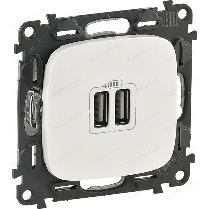 Розетка Legrand USB двойная Valena Allure 240V/5V 1500mA белая 754995