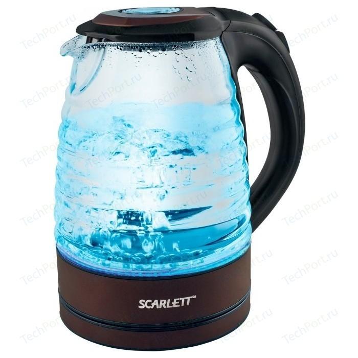 Фото - Чайник электрический Scarlett SC-EK27G97 черный чайник scarlett sc ek27g97 1 7l