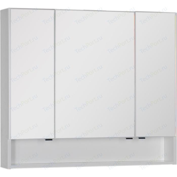 Зеркальный шкаф Aquanet Виго 100 белый (183399)