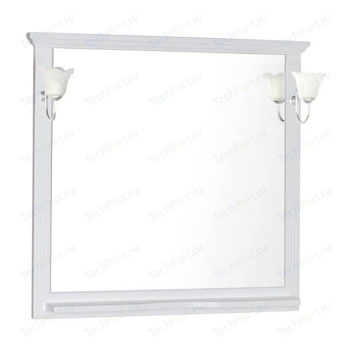 Зеркало с полкой Aquanet Лагуна 105 белое (175304)