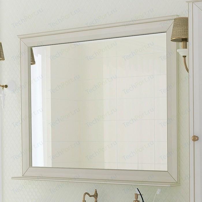Зеркало с полкой Акватон Беатриче 105 слоновая кость патиной (1A187302BEM60)