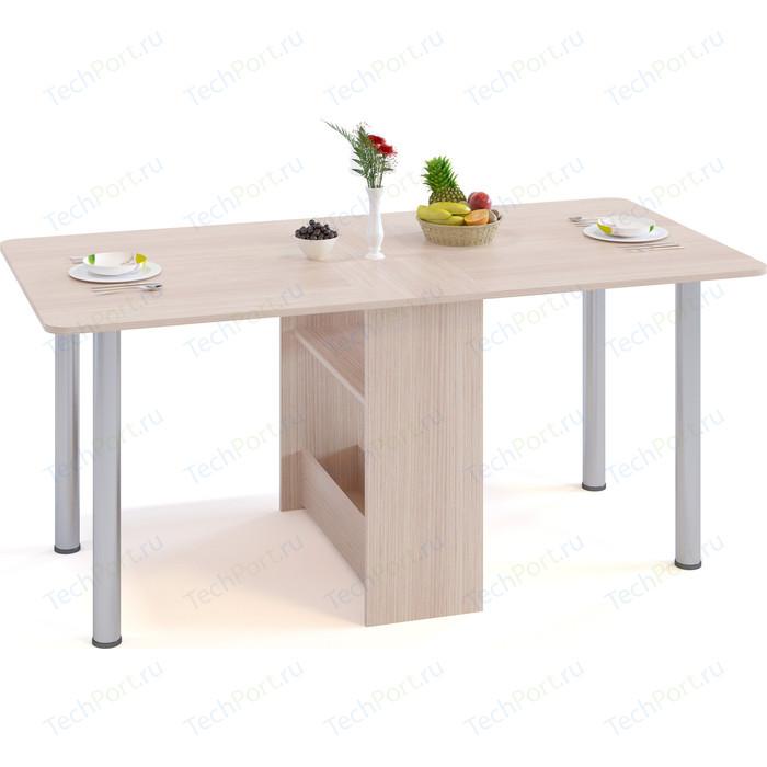 Стол раскладной СОКОЛ СП-04м.1 беленый дуб