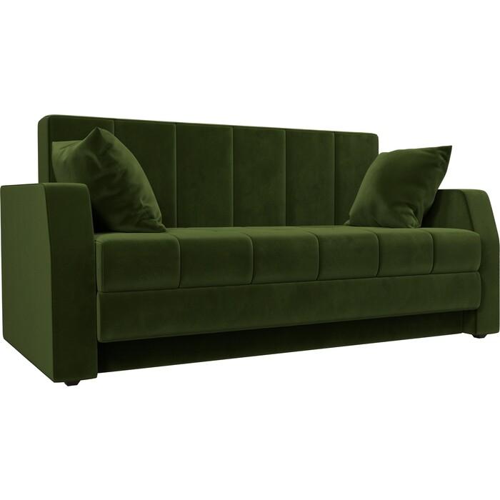 Диван АртМебель Малютка микровельвет зеленый