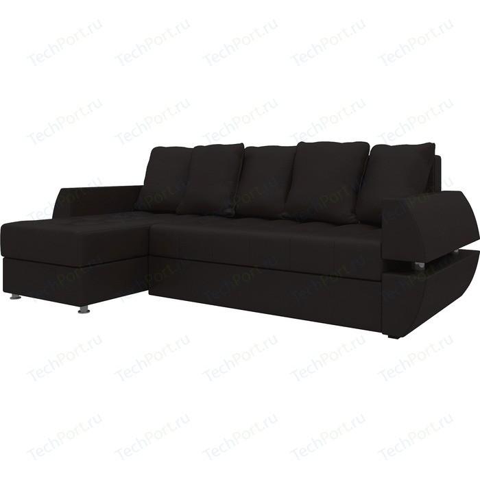 Фото - Диван угловой Мебелико Атлант УТ эко-кожа коричн левый диван угловой мебелико комфорт эко кожа бежево коричн левый