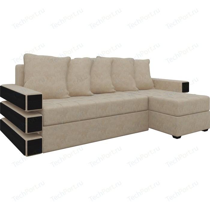 Диван угловой Мебелико Венеция микровельвет бежевый правый диван угловой мебелико венеция микровельвет зелено бежевый правый