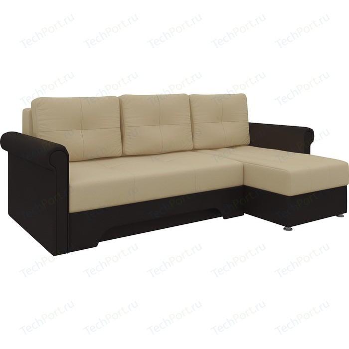 Фото - Диван угловой Мебелико Гранд эко-кожа бежево-коричн правый диван угловой мебелико комфорт эко кожа бежево коричн левый
