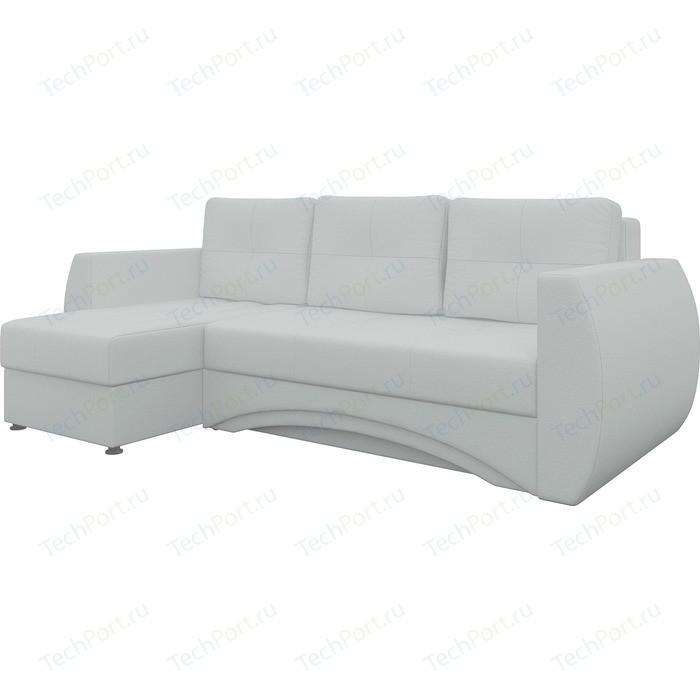 Диван угловой АртМебель Сатурн эко-кожа белый левый диван угловой артмебель венеция эко кожа белый левый