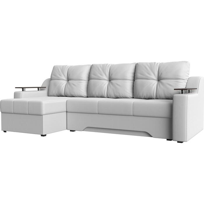 Диван угловой АртМебель Сенатор эко-кожа белый левый диван угловой артмебель венеция эко кожа белый левый