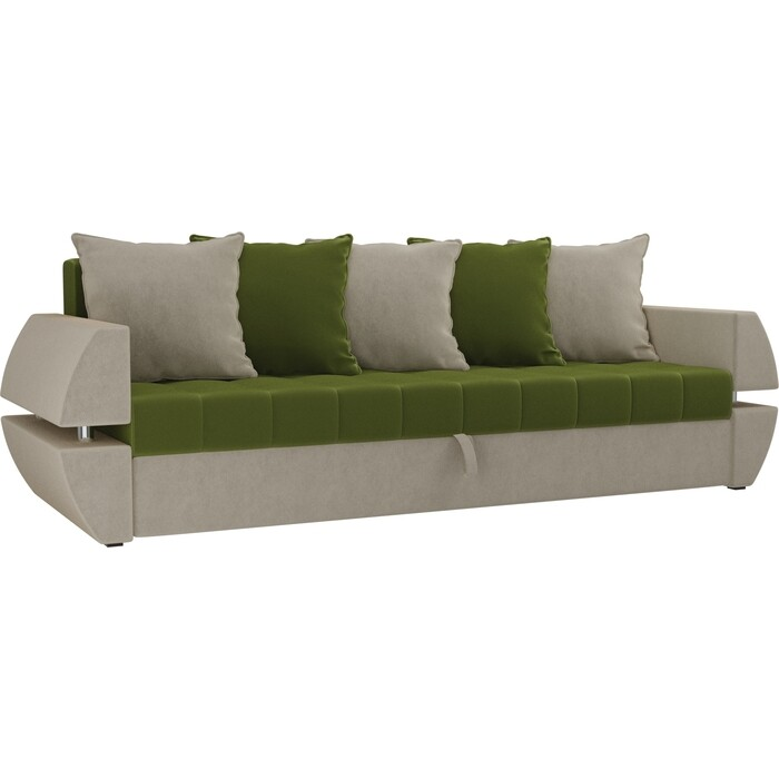Фото - Диван-еврокнижка Мебелико Атлант Т микровельвет зелено-бежевый диван еврокнижка мебелико пазолини микровельвет зелено бежевый