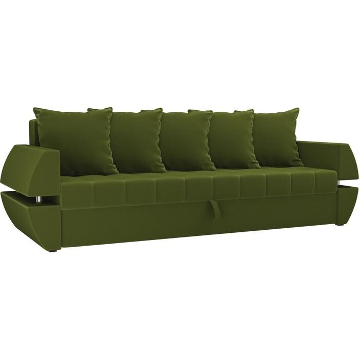 Диван-еврокнижка Мебелико Атлант Т микровельвет зеленый