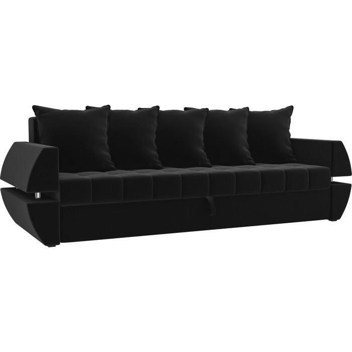 Фото - Диван-еврокнижка Мебелико Атлант Т микровельвет черный диван еврокнижка мебелико атлант т микровельвет черный