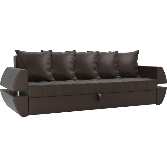 Фото - Диван-еврокнижка Мебелико Атлант Т эко-кожа коричневый диван еврокнижка мебелико атлант т микровельвет черный