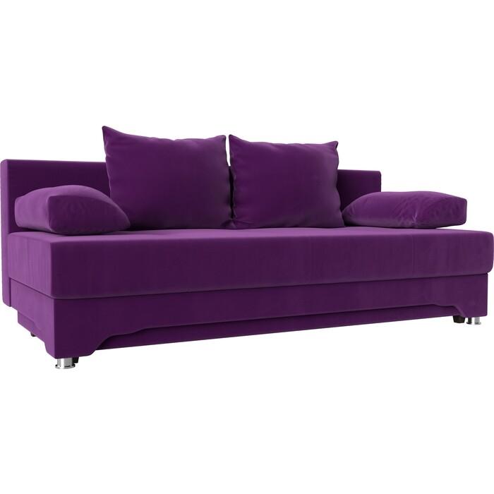 Диван-еврокнижка Мебелико Ник-2 микровельвет фиолетовый