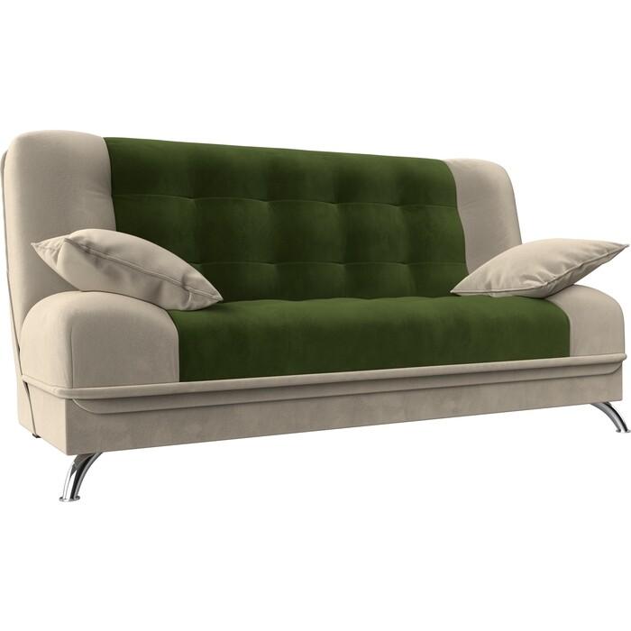 Фото - Диван-книжка Мебелико Анна микровельвет зелено-бежевый диван еврокнижка мебелико пазолини микровельвет зелено бежевый