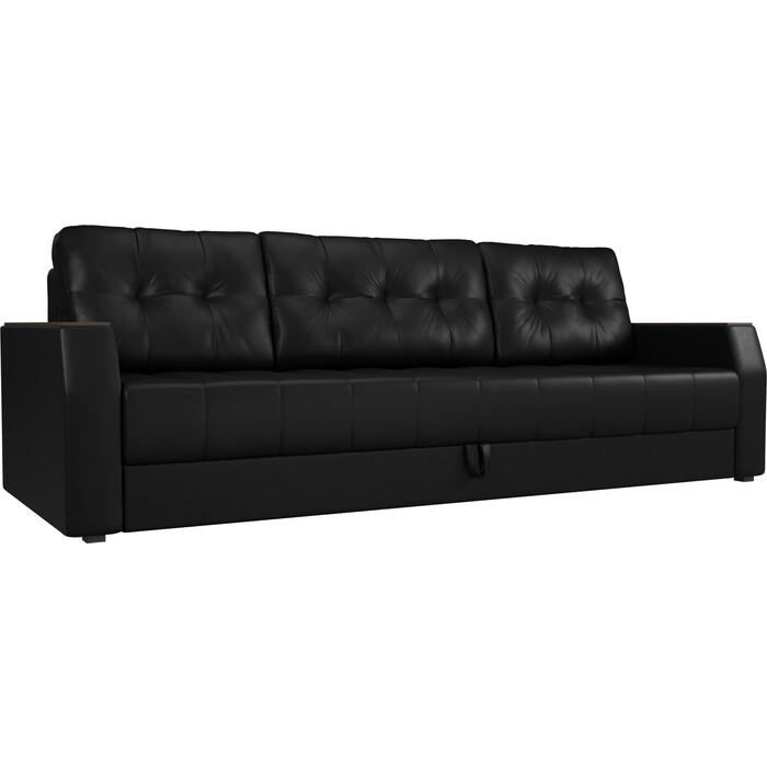 Фото - Диван-еврокнижка АртМебель Атлант БС эко-кожа черный диван еврокнижка артмебель атлант т эко кожа бело черный
