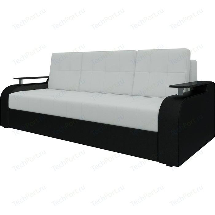 Диван-еврокнижка Мебелико Ричард эко-кожа бело-черный