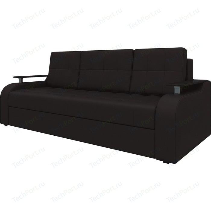Диван-еврокнижка АртМебель Ричард эко-кожа Коричневый диван диван ричард ричард