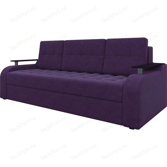 Диван-еврокнижка АртМебель Ричард микровельвет фиолетовый