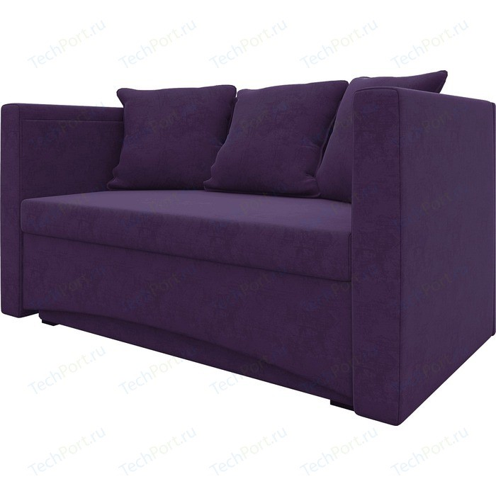 Кушетка Мебелико Принц микровельвет фиолетовый левый