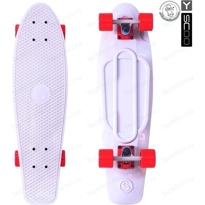 Скейтборд RT 402-W Big Fishskateboard 27 винил 68,6х19 с сумкой WHITE/red