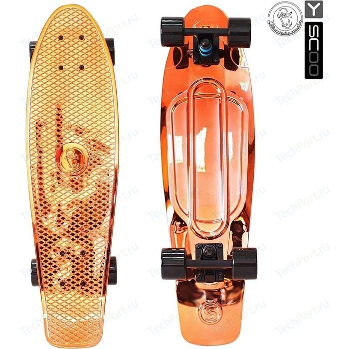 Скейтборд RT 402H-O Big Fishskateboard metallic 27 винил 68,6х19 с сумкой ORANGE/black