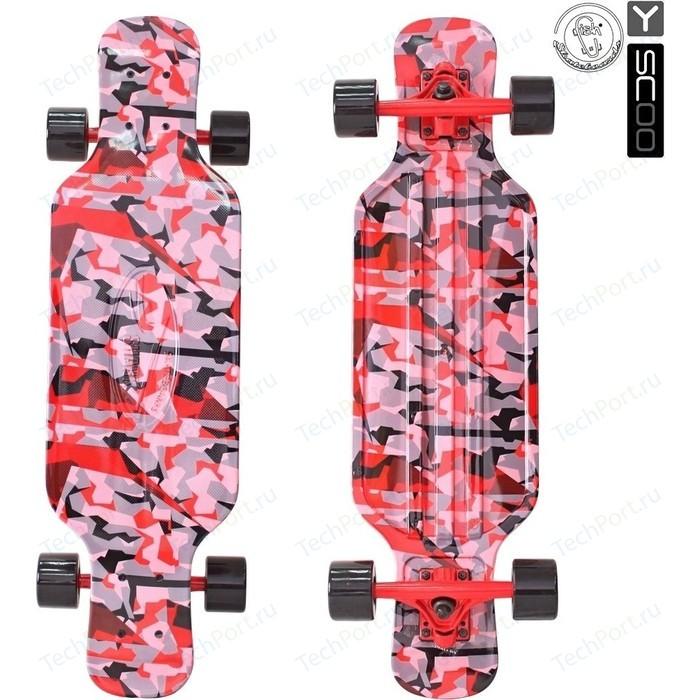 Скейтборд RT 408-Ch Longboard Shark TIR 31 пластик 79х22 с сумкой CHAOS RED/black