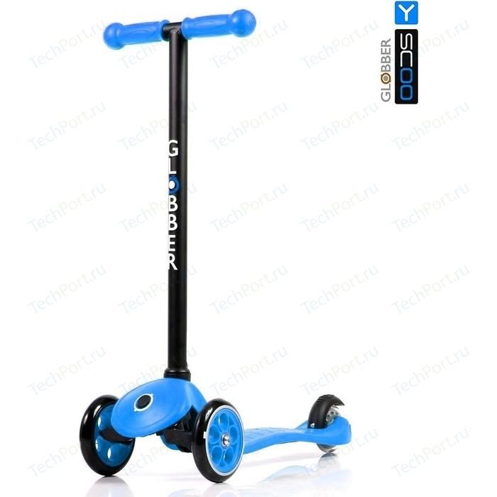 Самокат 3-х колесный Y-Scoo RT GLOBBER My free FIXED blue с блокировкой колес