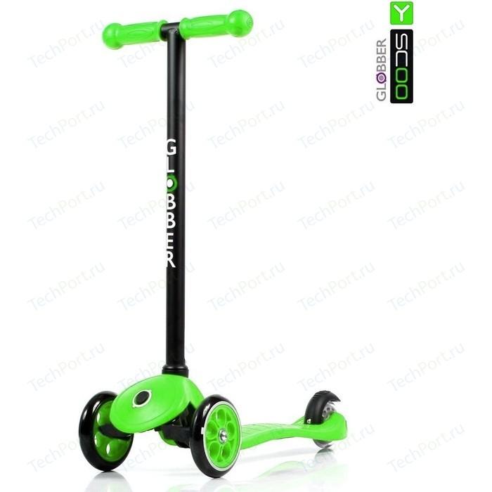 Самокат 3-х колесный Y-Scoo RT GLOBBER My free FIXED green с блокировкой колес