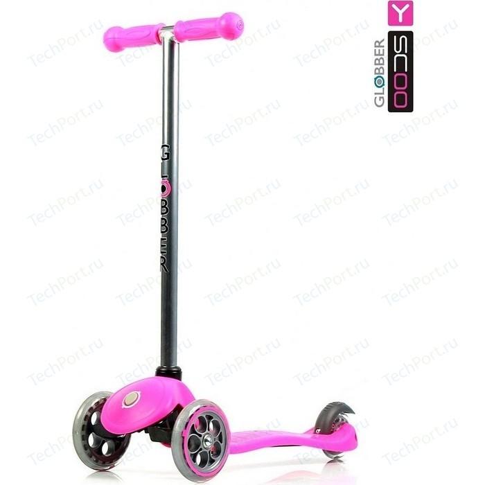 Самокат 3-х колесный Y-Scoo RT GLOBBER My free FIXED pink с блокировкой колес