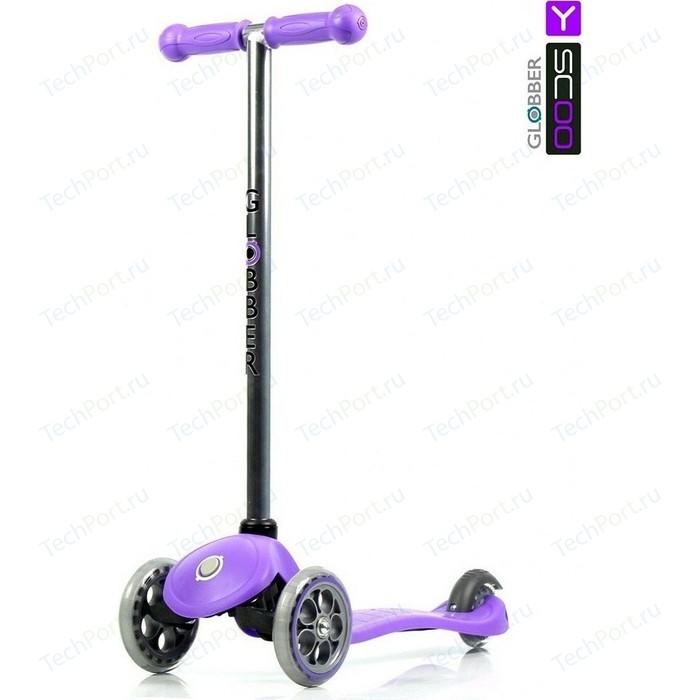 Самокат 3-х колесный Y-Scoo RT GLOBBER My free FIXED purple с блокировкой колес