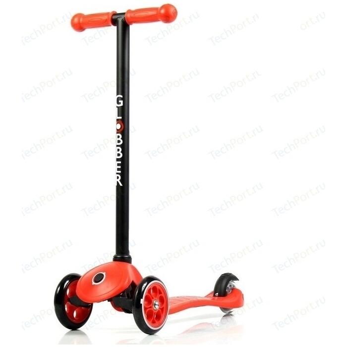 Самокат 3-х колесный Y-Scoo RT GLOBBER My free FIXED red с блокировкой колес