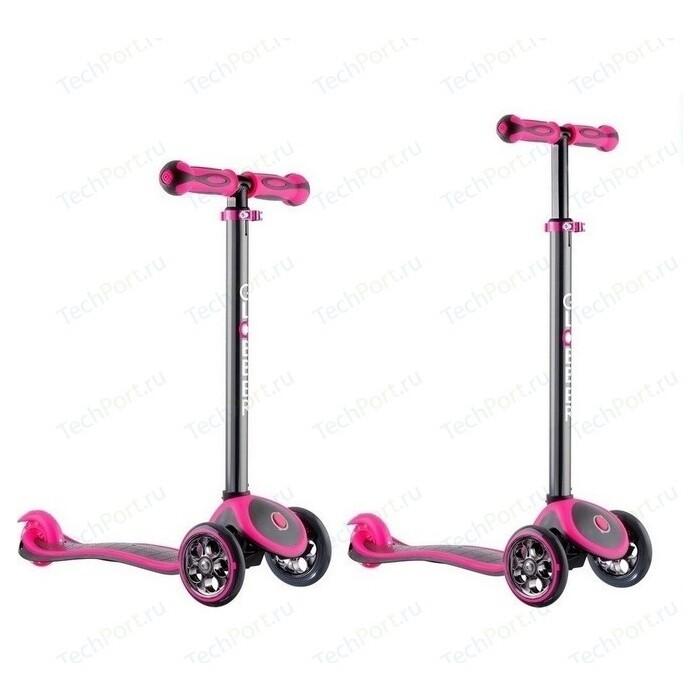 Самокат 3-х колесный Y-Scoo RT GLOBBER My free TITANIUM neon pink с блокировкой колес