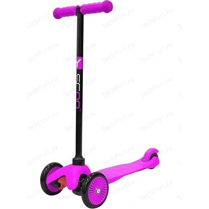 Самокат 3-х колесный Y-Scoo mini A-5 Simple цв. pink с цветными колесами