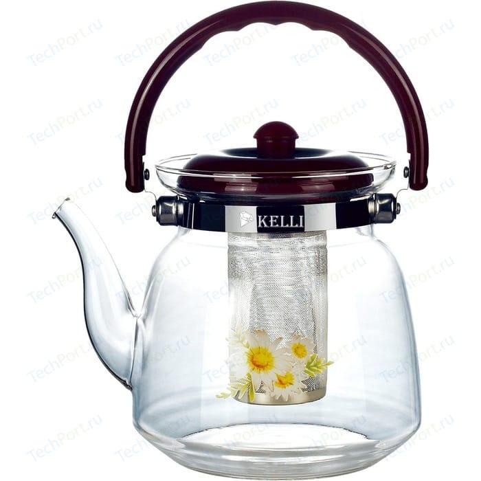 Чайник заварочный 2.2 л Kelli KL-3004 чайник 3 л kelli kl 4306 синий