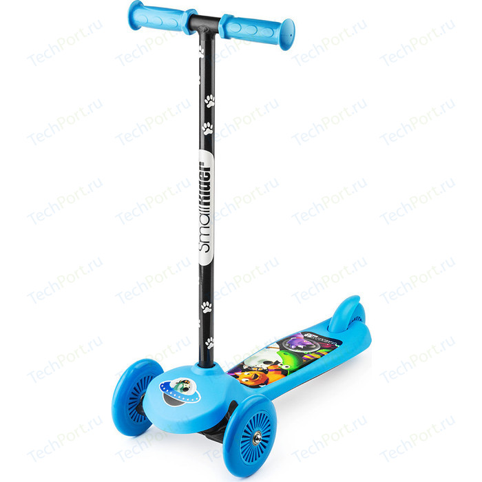 Самокат 3-х колесный Small Rider Cosmic Zoo Scooter Синий (1233592/цв 1233596)