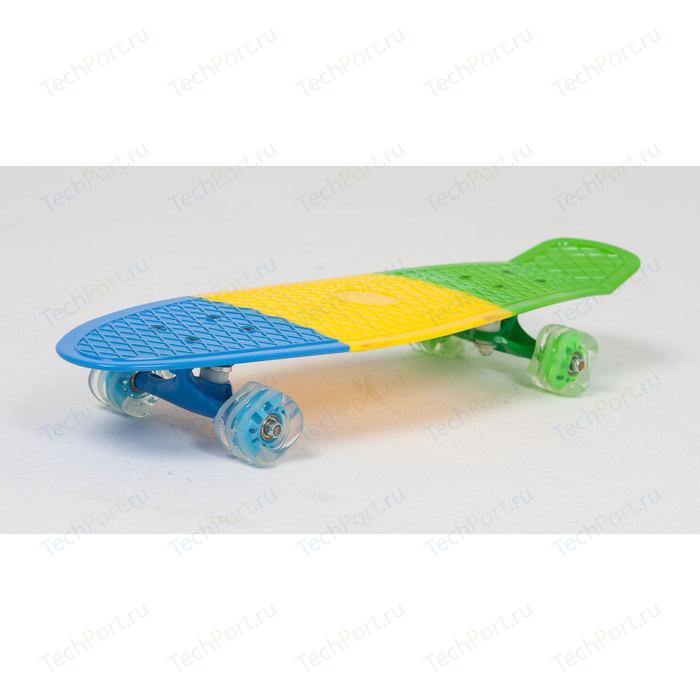 Скейтборд Moove&Fun пластиковый (27X8) трехцветный PP2708-2 скейт пластиковый moove fun 22х6 1 pp2206 1 green