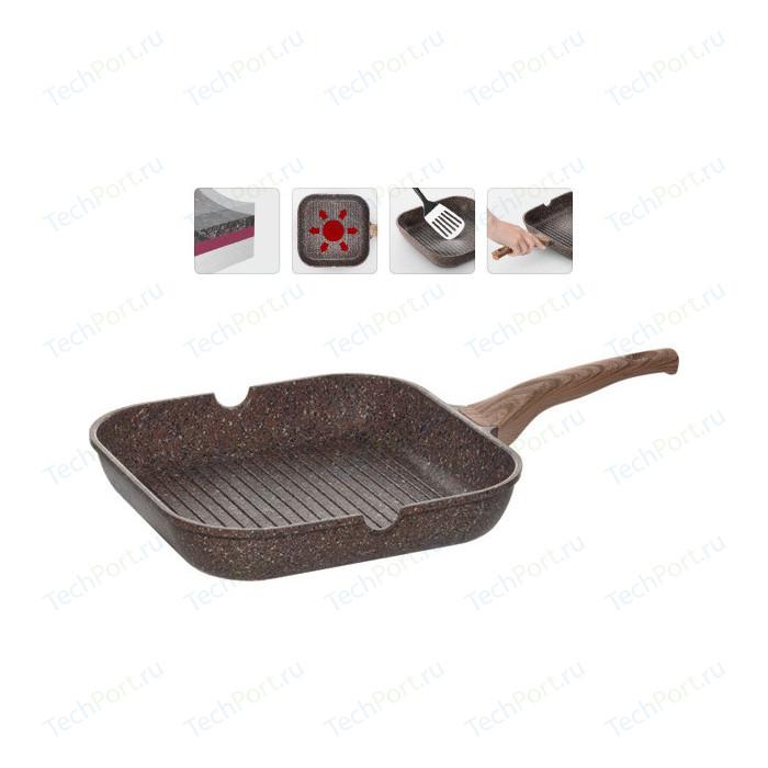 Сковорода-гриль Nadoba 28x28 см Greta (728620) сковорода гриль с крышкой и съемной ручкой agness 932 021 28x28 см