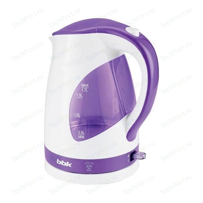 Чайник электрический BBK EK1700P белый/фиолетовый
