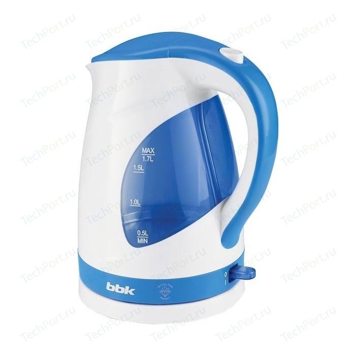 Чайник электрический BBK EK1700P белый/голубой