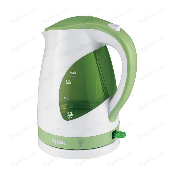 Чайник электрический BBK EK1700P белый/зеленый