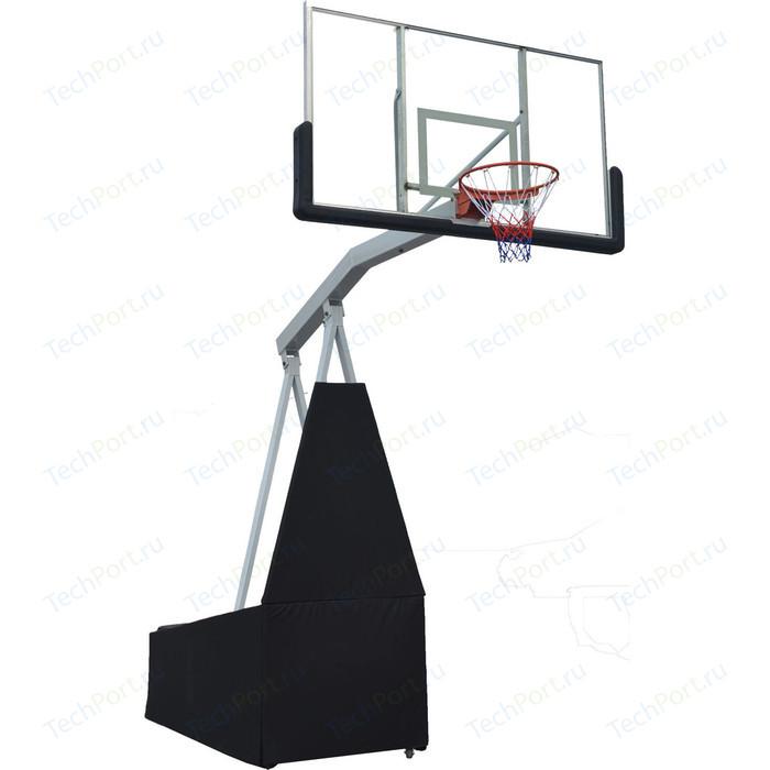Баскетбольная мобильная стойка DFC STAND72G 180x105 см стекло (семь коробов)