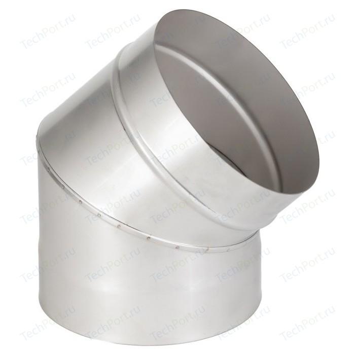 Отвод Феникс дымоходный 150 мм угол 45 градусов (1.0 нерж.мат.)(00902)