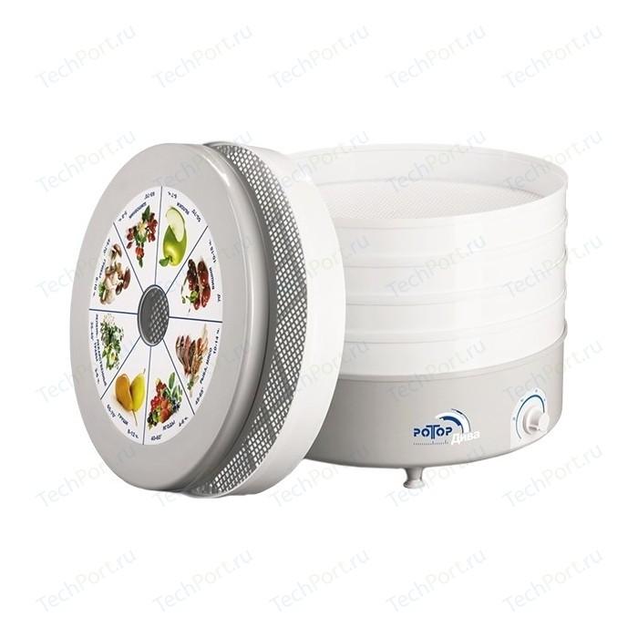 Фото - Сушилка для овощей Ротор Дива СШ-007-04, 5 решеток, в цветной упаковке сушилка для овощей и фруктов ротор дива сш 007 11 прозрачный 3 поддона