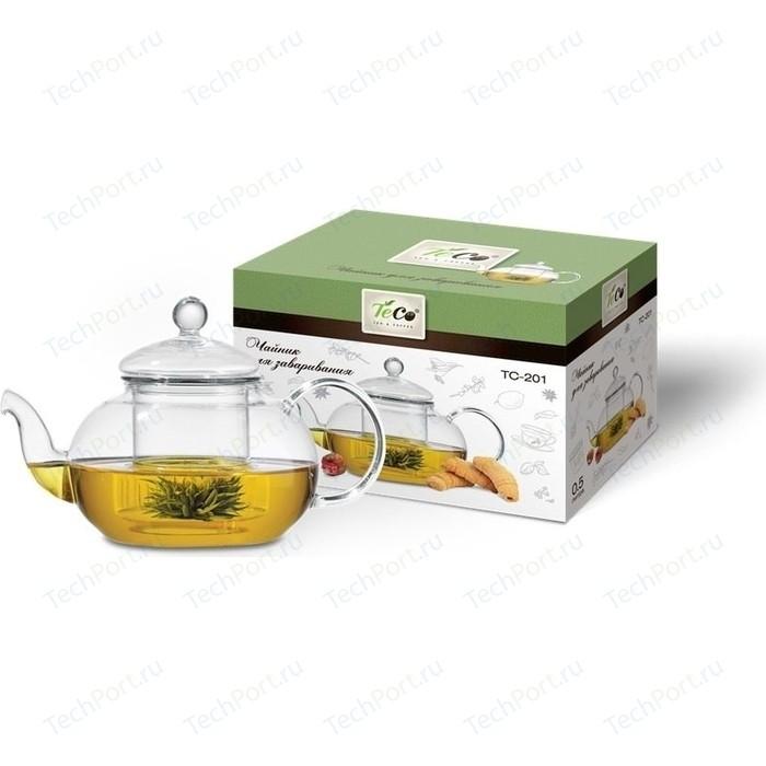 Заварочный чайник 0.5 л Teco (TC-201) чайник teco tc 106 r серебристый красный 3 л нержавеющая сталь