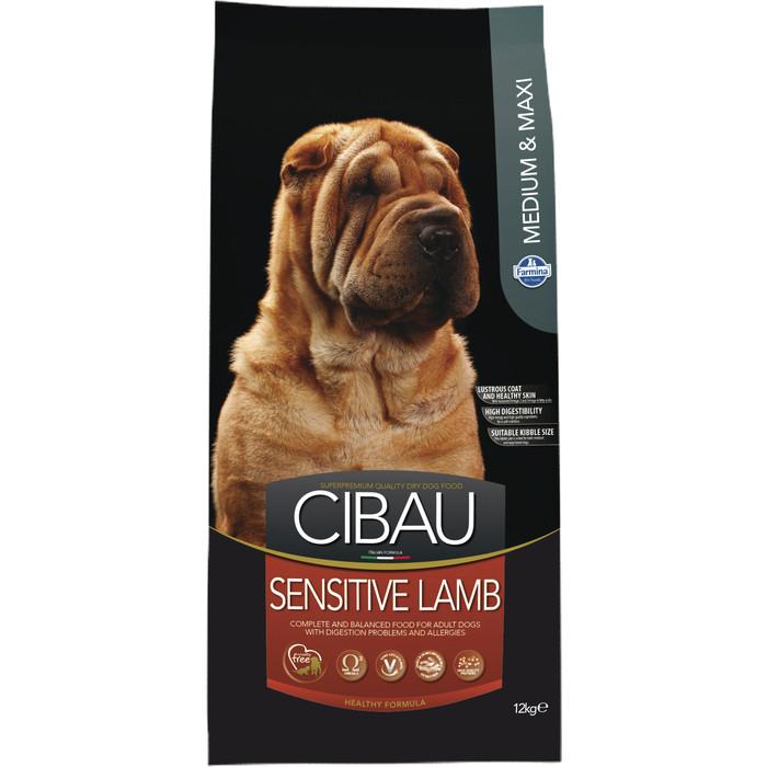 Сухой корм Farmina CIBAU Sensitive Lamb Medium & Maxi Breed с ягненком для взрослых собак средних и крупных пород 12кг
